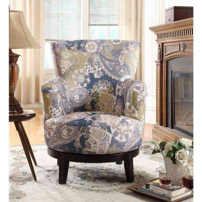 cheap accent chair exercises on tv floral chairs the home depot zoey swivel flower pattern