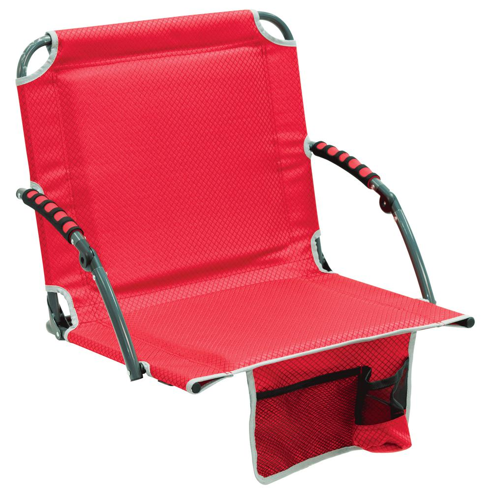 stadium chairs for bleachers with arms office chair seat covers nz rio bleacher boss pal red folding padded armrests