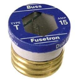 cooper bussmann t series 15 amp carded plug fuses 2 pack  [ 1000 x 1000 Pixel ]