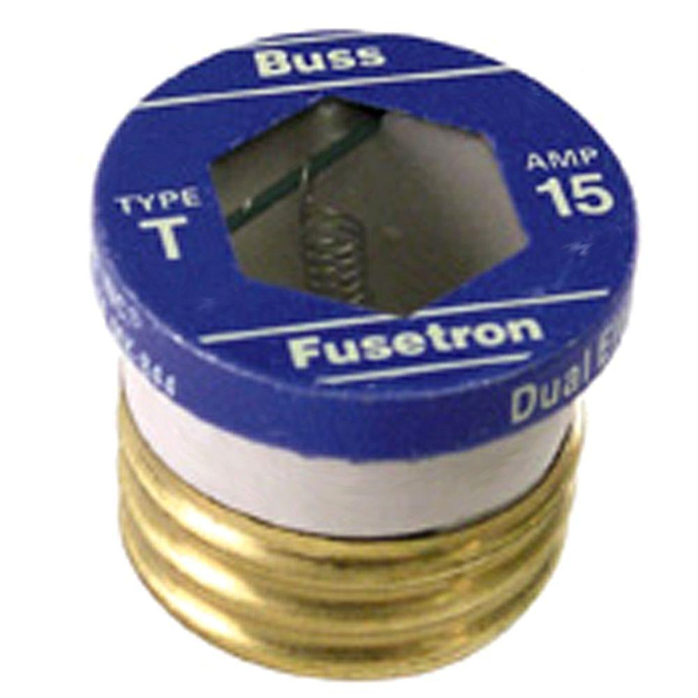 hight resolution of cooper bussmann t series 15 amp carded plug fuses 2 pack