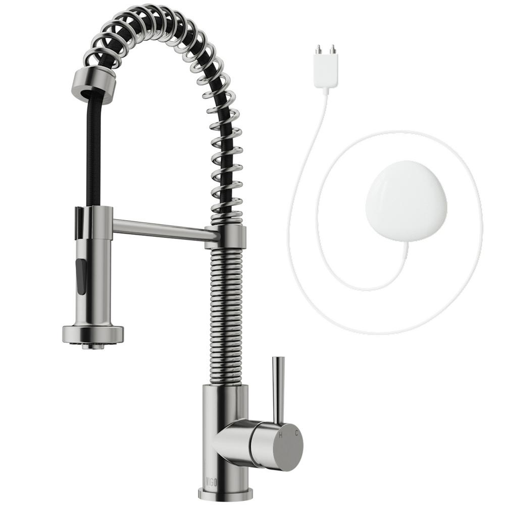 brushed nickel kitchen faucet head