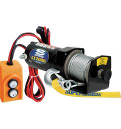 superwinch lt2000 12 volt dc utility winch with free spooling clutch and 8 ft [ 1000 x 1000 Pixel ]