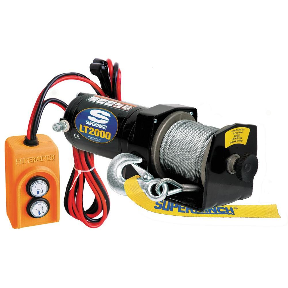 medium resolution of superwinch lt2000 12 volt dc utility winch with free spooling clutch and 8 ft