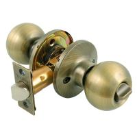 Toledo Fine Locks Antique Brass Privacy Door Knob Lock Set ...