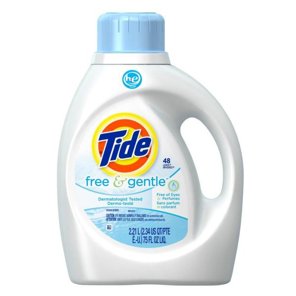 Tide 75 oz Free and Gentle HE Liquid Laundry Detergent