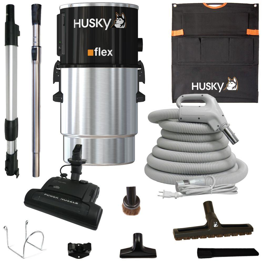 hight resolution of husky central vacuum flex with accessories and electric power head
