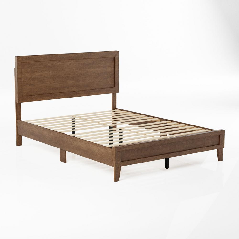 brookside leah classic wood platform bed cal king southern oak bsckso01lb the home depot