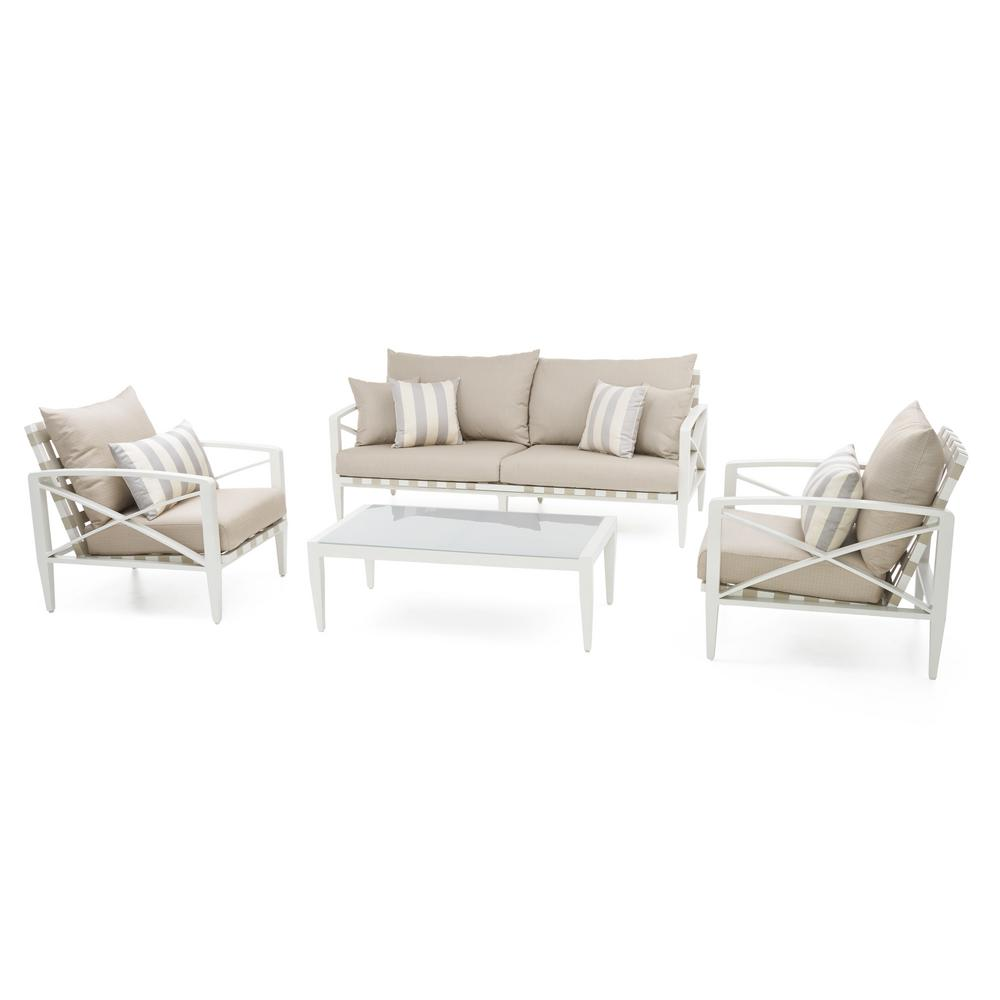 al s chairs and tables ergonomic chair drawing rst brands knoxville cream 4 piece aluminum patio seating set with slate grey cushions