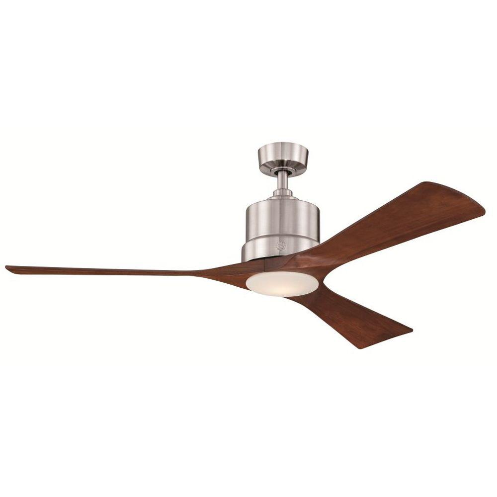 GE Phantom 54 in. Brushed Nickel Indoor LED Ceiling Fan