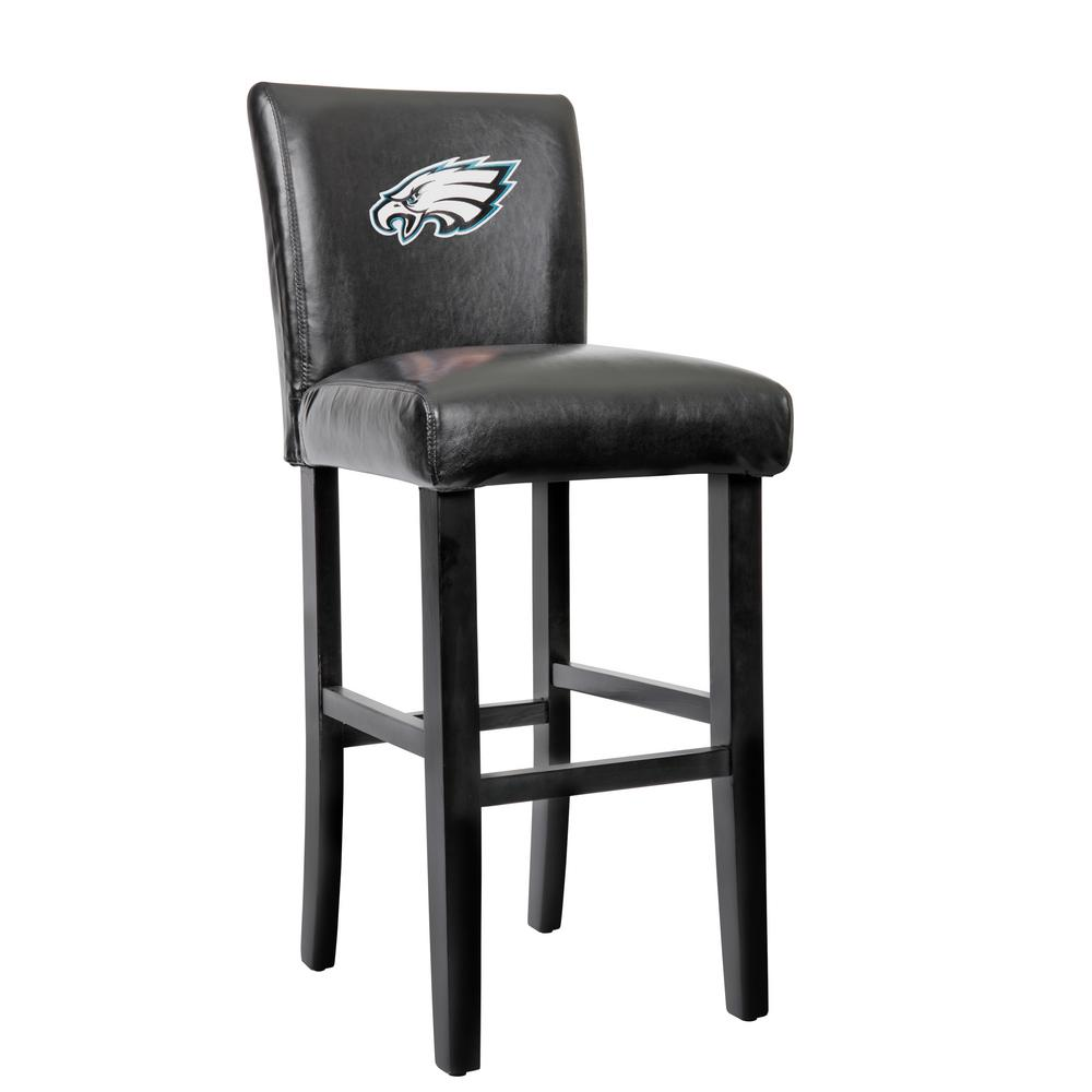 philadelphia eagles chair calligaris dining chairs 30 in black bar stool with faux leather cover set of 2