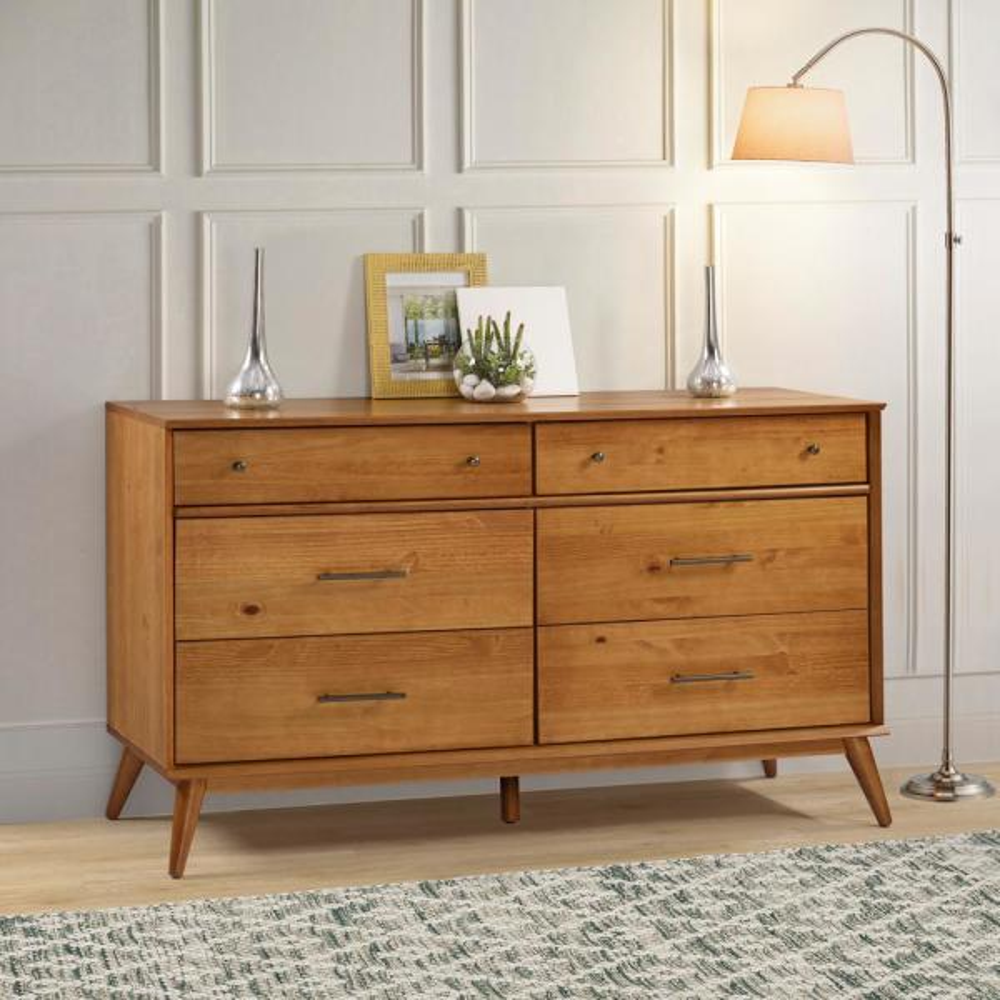 mid century 6 drawer