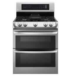 double oven gas range with probake convection oven  [ 1000 x 1000 Pixel ]