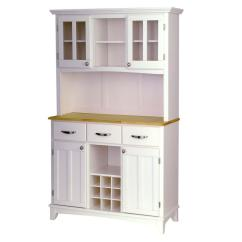 Kitchen Buffet Hutch L Shaped Island Home Styles White And Natural With 5100 0021 12 The