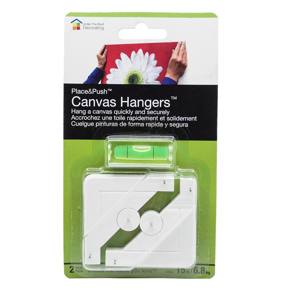 Under The Roof Decorating Place And Push Canvas Hangers 3 100200 The Home Depot