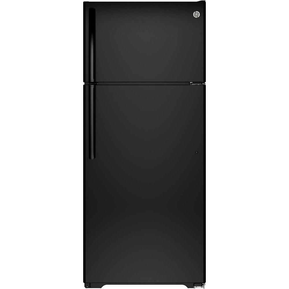 hight resolution of ge 17 5 cu ft top freezer refrigerator in white gts18gthww the home depot