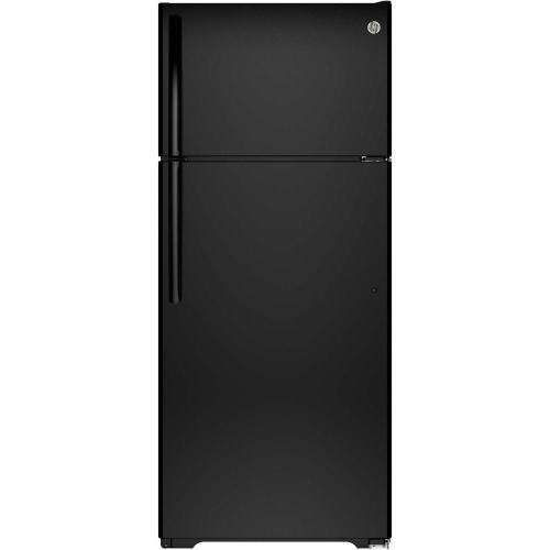 small resolution of ge 17 5 cu ft top freezer refrigerator in white gts18gthww the home depot