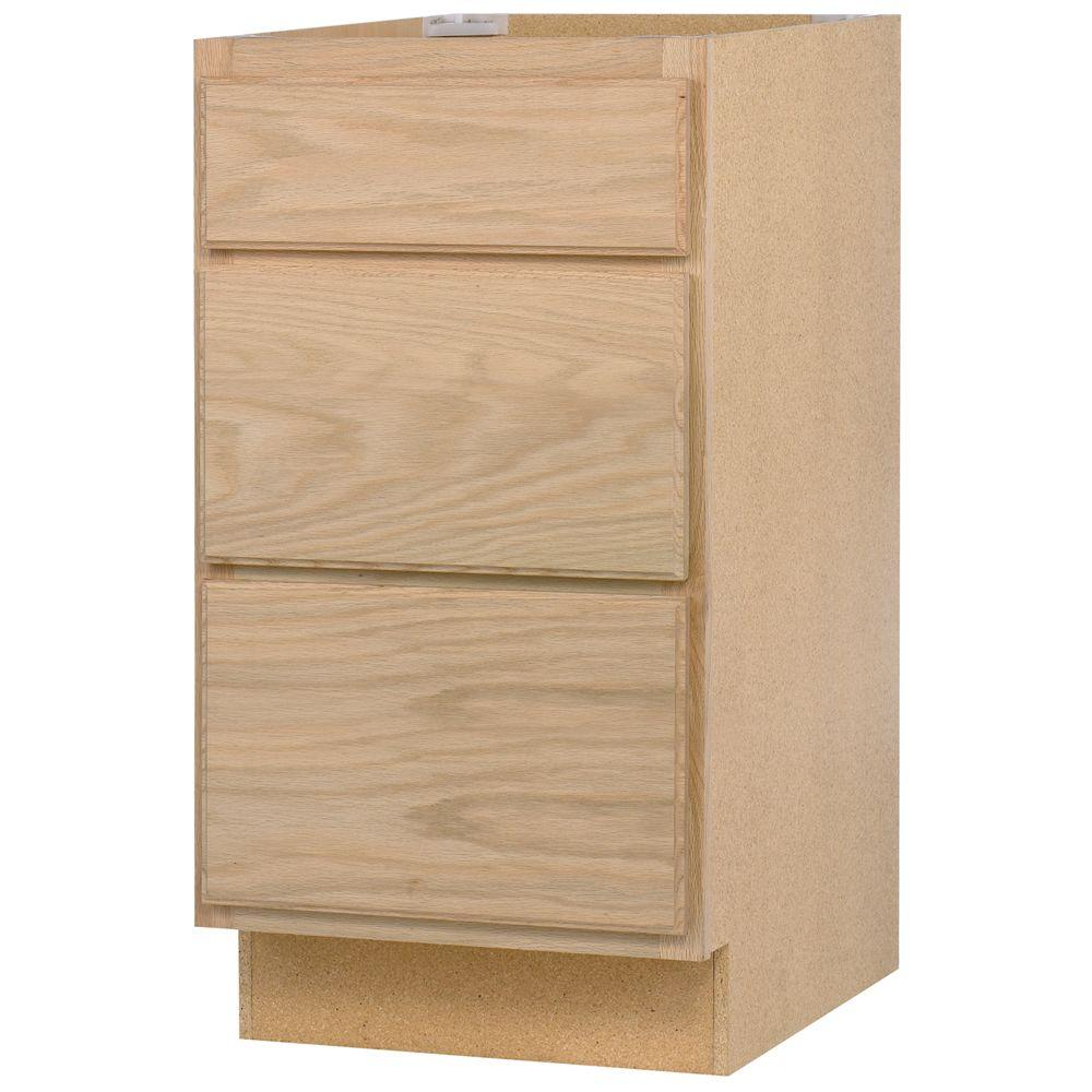 Assembled 24x34 5x24 In Base Kitchen Cabinet With 3 Drawers In
