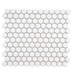 Merola Tile Metro Hex Glossy White 10-1/4 in. x 11-3/4 in