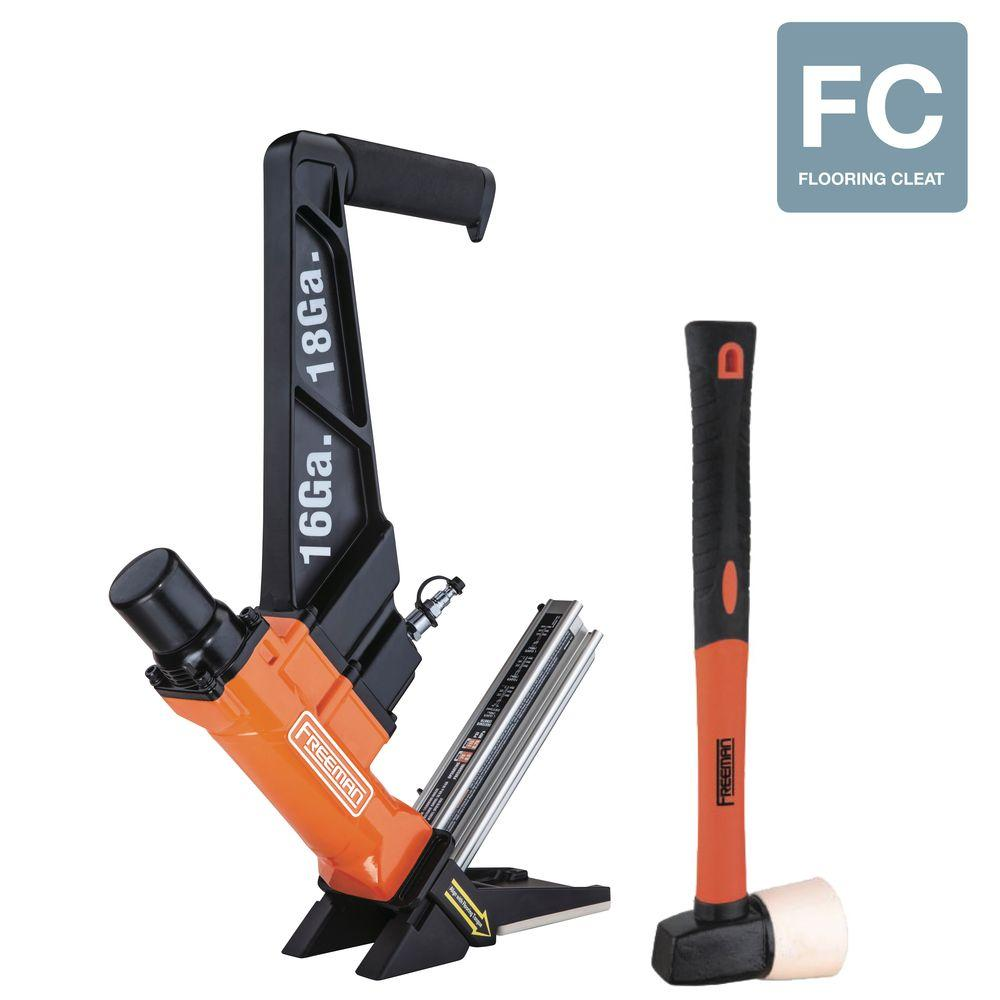 Freeman Cleat Nailer 16Gauge 18Gauge Pro Flooring Gun TL Cleat 3in1 Lightweight 816376014431  eBay