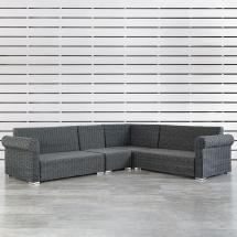 Outdoor Rolled Arm Sofa