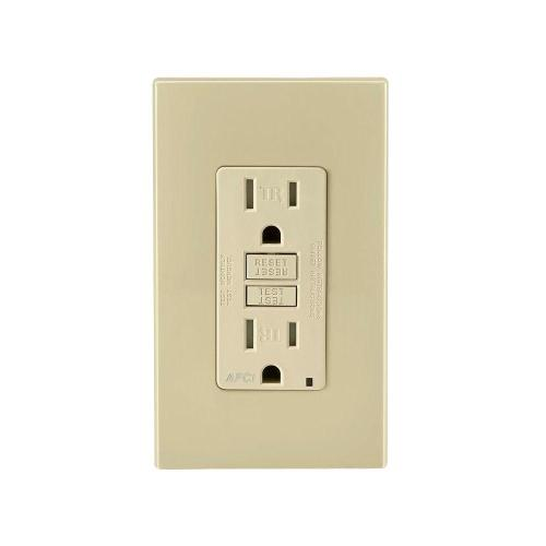 small resolution of leviton 15 amp tamper resistant afci outlet ivory