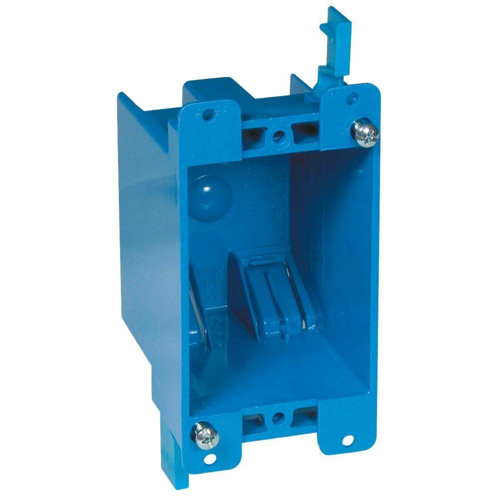medium resolution of carlon 1 gang 14 cu in old work pvc electrical box