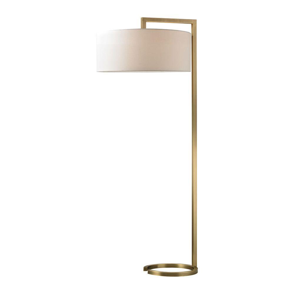 Titan Lighting Ring Base 60 in Antique Brass Floor Lamp