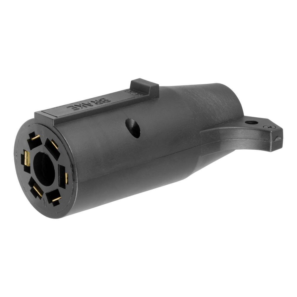 medium resolution of curt electrical adapter 7 way rv to 6 round trailer center pin curt 4way flat to 7way round rv blade wiring adapter 57185