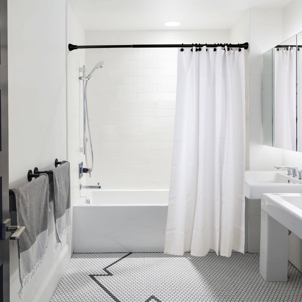 bathroom shower rod curtains liner