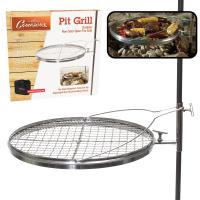 Open Fire Pit Grill - Portable Stainless Steel Charcoal or ...