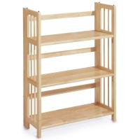 Casual Home Natural Folding/Stacking Open Bookcase ...