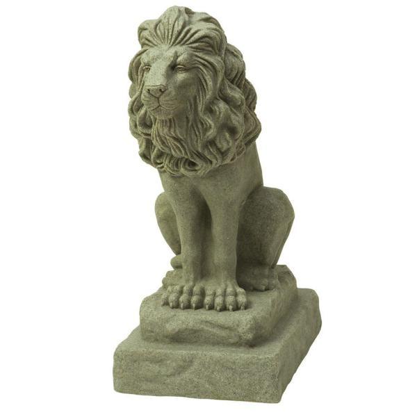 Emsco 28 In. Guardian Lion Statue-2210-1 - Home Depot