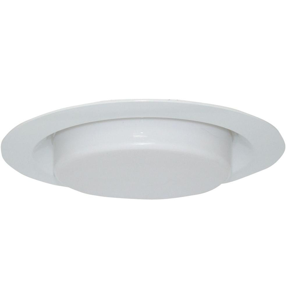 Design House 6 in. White Recessed Lighting Shower Trim