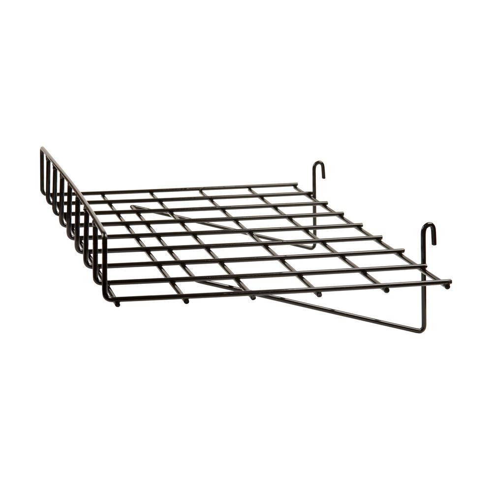 Econoco 24 in. W x 15 in. D Straight Black Wire Shelf with