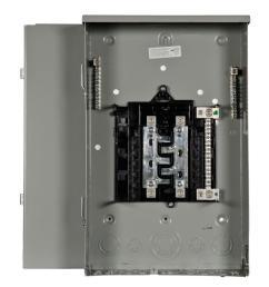 siemens pl series 200 amp 8 space 16 circuit main lug outdoor trailer panel [ 1000 x 1000 Pixel ]
