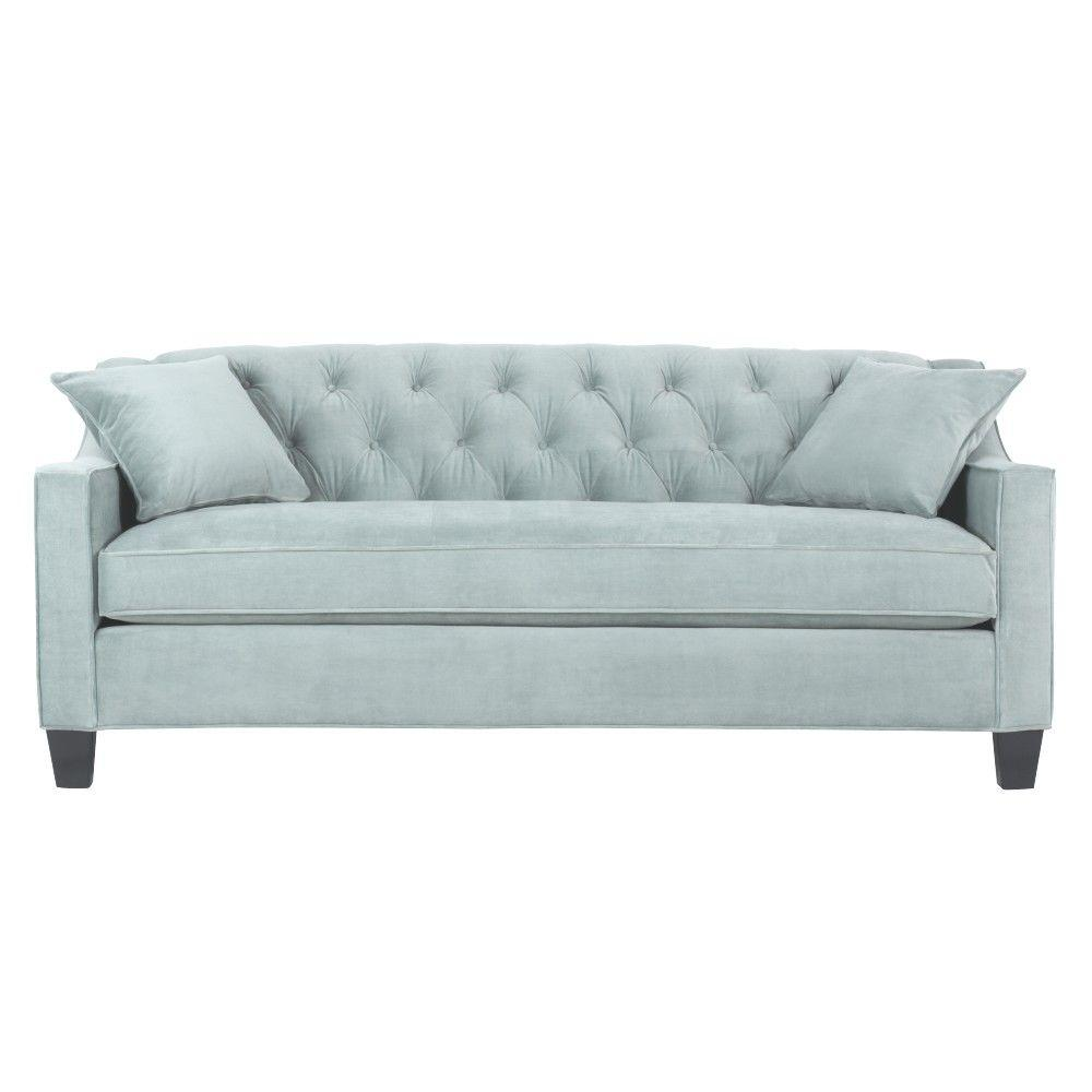 home decorators tufted sofa section collection riemann 81 5 in blue polyester