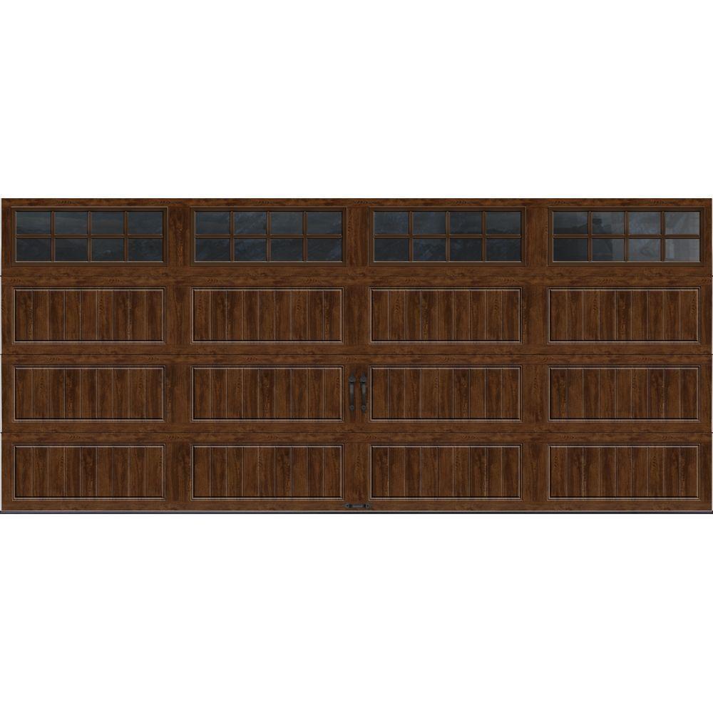 Clopay Gallery Collection 16 ft x 7 ft 65 RValue Insulated UltraGrain Walnut Garage Door