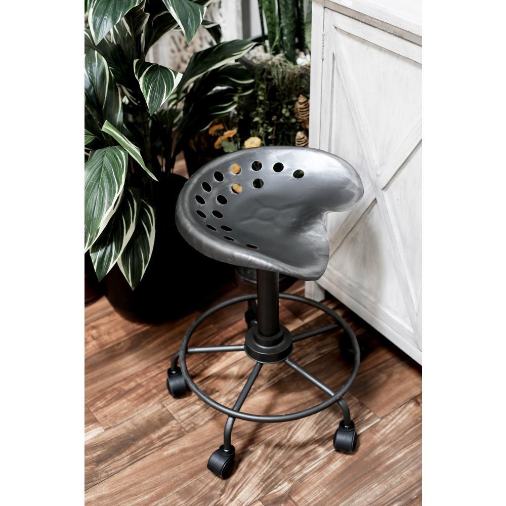 stool chair on wheels laz boy litton lane 22 in black adjustable bar with 14919