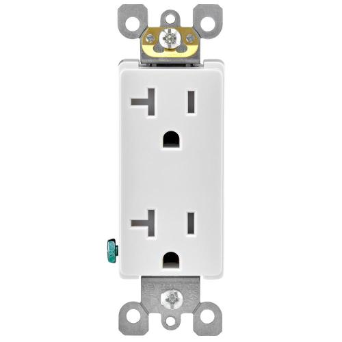 small resolution of leviton decora 20 amp ultrasonic tamper resistant duplex outlet white