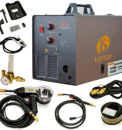 lotos 175 amp mig wire feed welder flux core welder and aluminum gas shielded welding with included spool gun 220v mig175 the home depot [ 1000 x 1000 Pixel ]