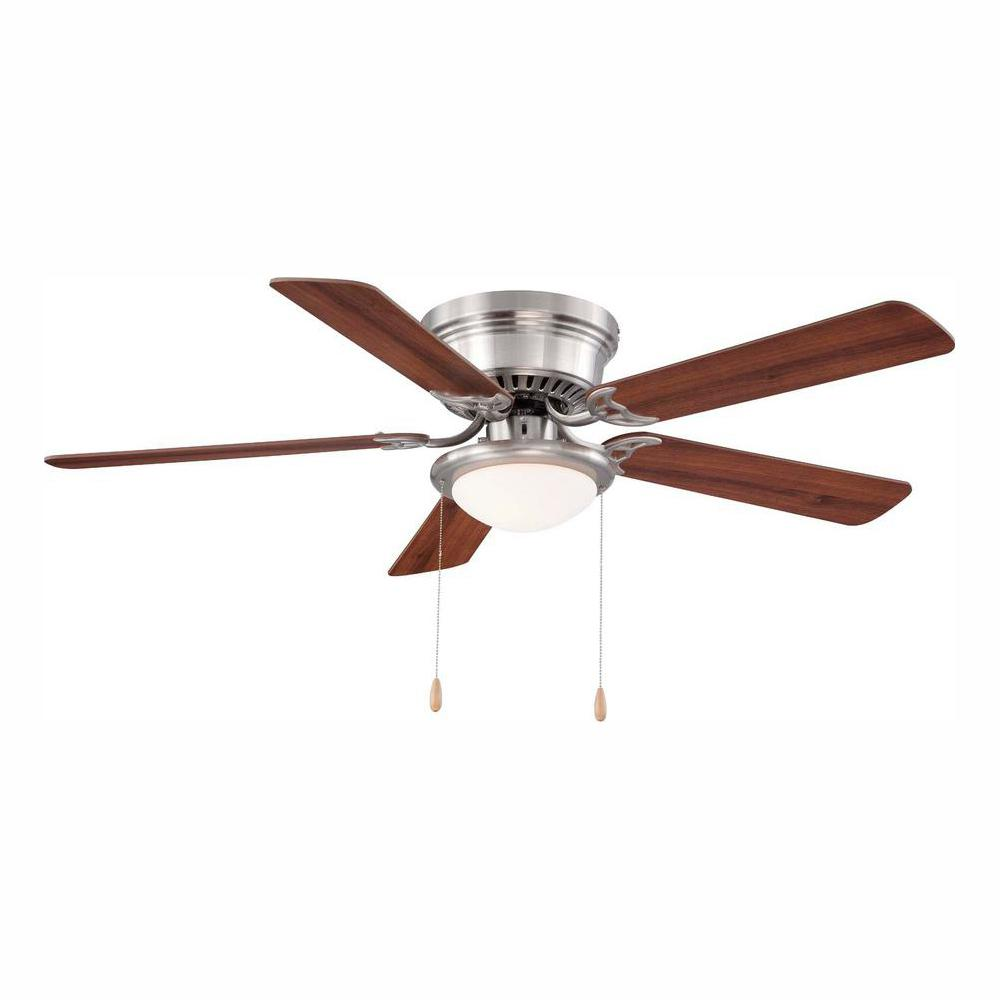 medium resolution of hugger 52 in led indoor brushed nickel ceiling fan with light kit bahama ceiling fan light kit wiring along with bathroom fan wiring