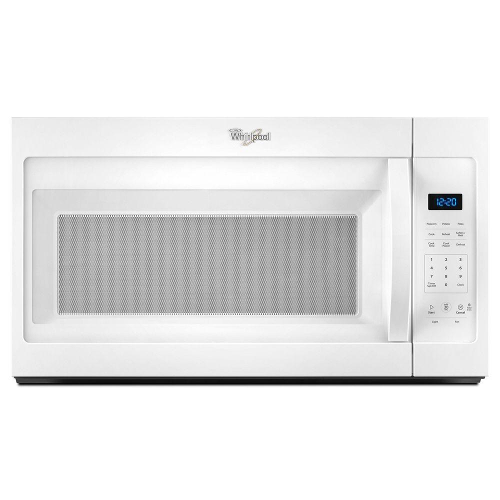 medium resolution of whirlpool 1 7 cu ft over the range microwave in white