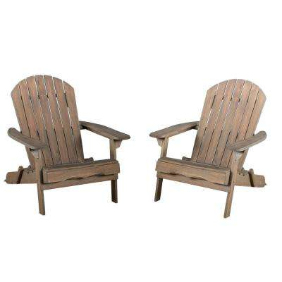 gray adirondack chairs bariatric lift chair patio the home depot hanlee grey folding wood 2 pack