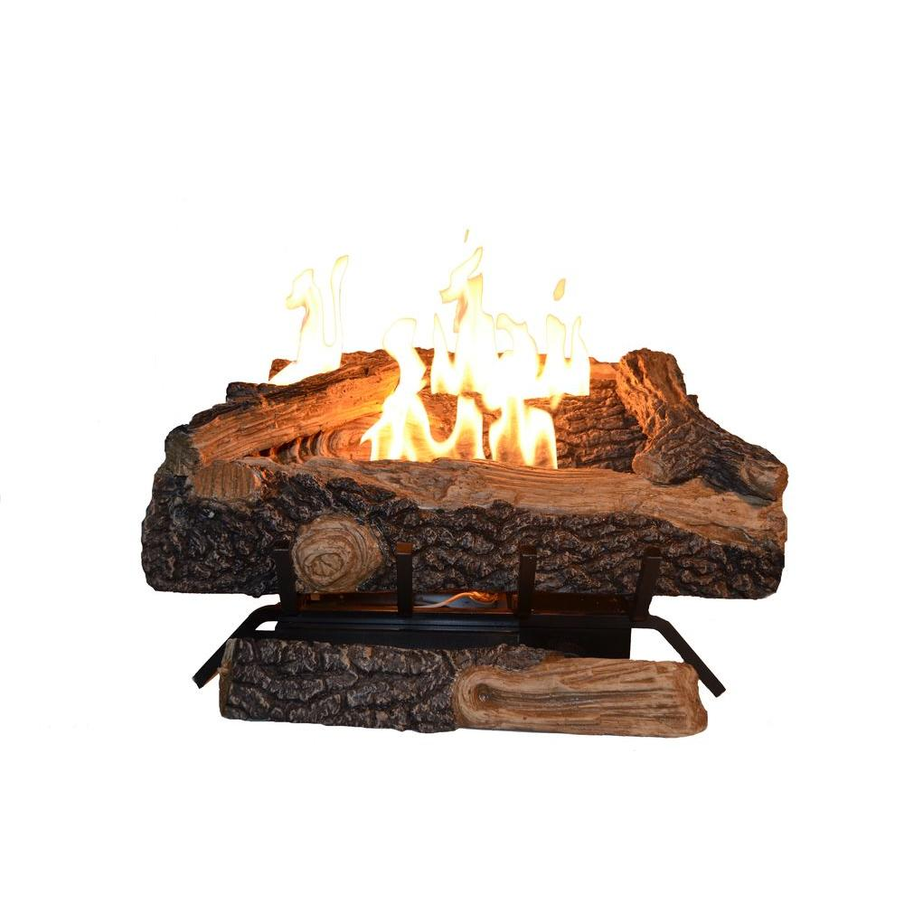 Emberglow Oakwood 24 in VentFree Natural Gas Fireplace Logs with Thermostatic ControlOVT22NG