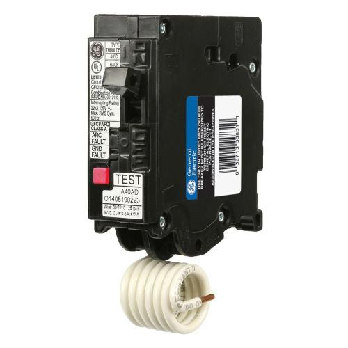 small resolution of ge q line 15 amp single pole dual function arc fault gfci breaker