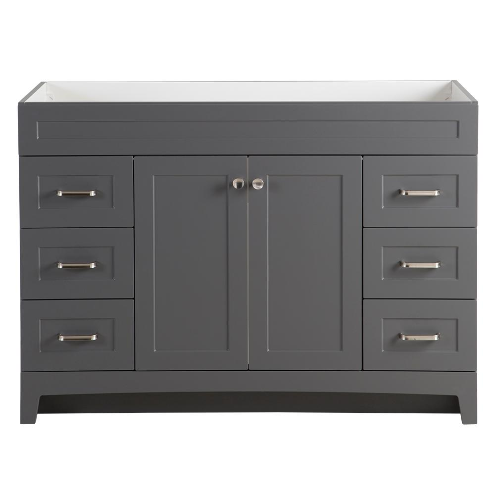 Home Decorators Collection Thornbriar 48 In W X 21 In D Bathroom Vanity Cabinet In Cement Tb4821 Ct The Home Depot
