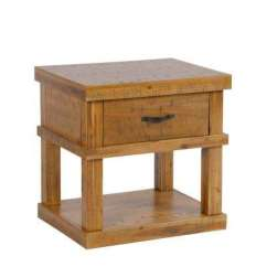 American Furniture Living Room Tables Partition Wall Classics Brown Rustic Accent Solid Acacia Wood Distressed Toffee End Table Or Nightstand With 1 Drawer And Gun Concealment