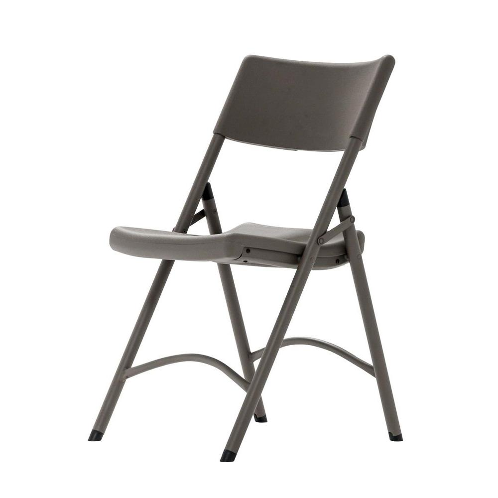 Lifetime Almond Folding Chairs 4Pack42803  The Home Depot