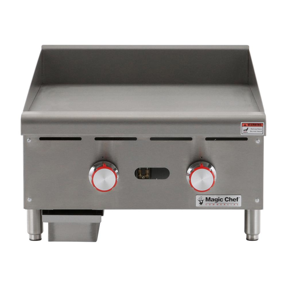 magic kitchen grill small cabinet chef commercial 24 in thermostatic countertop griddle mcctg24