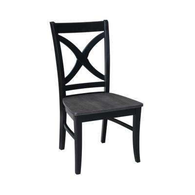 black cross back dining chairs hammock swing chair stand diy international concepts salerno and coal set of 2